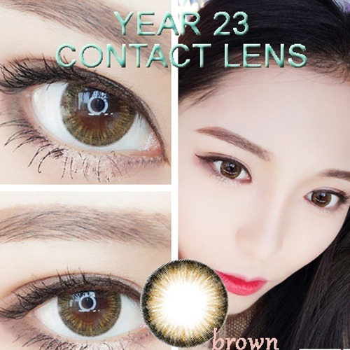 lentes de contato - year brown - natural - marrom