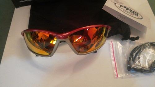 lentes de espejo de fuego montura carmesi mcr sh14r