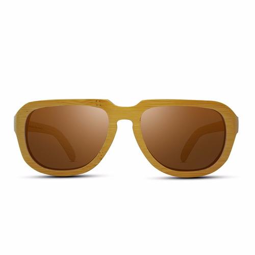lentes de madera / marca ozader - kudos brown