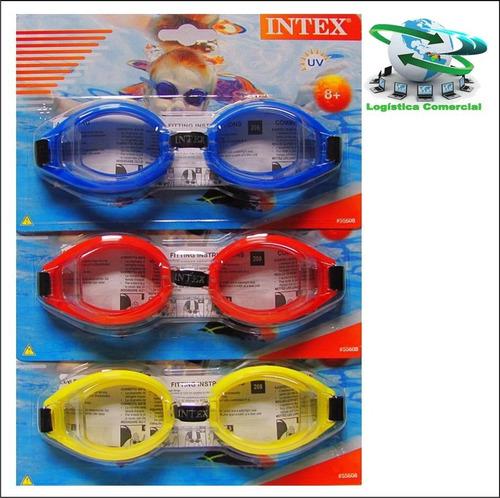 lentes de natacion 55608 piscina playa intex mayores d 8años
