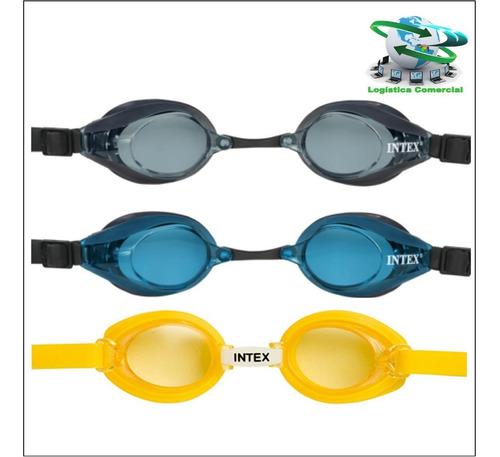 lentes de natacion buceo intex + estuche 55692 proteccion uv