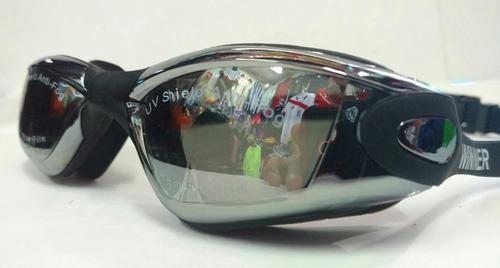 lentes de natación winner espejados uv y antifog