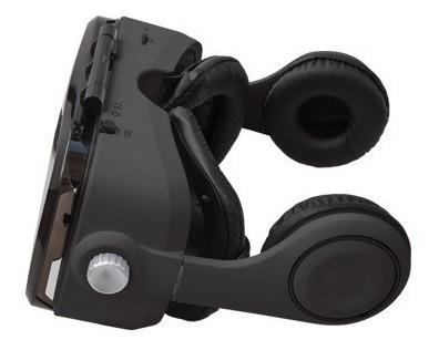 lentes de realidad virtual 3d con audífonos control grv-2030
