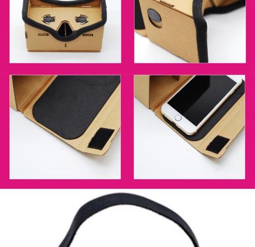 lentes de realidad virtual google cardboard 3d gafas vr 2017
