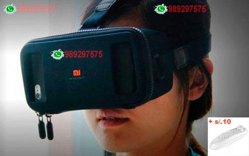 lentes de realidad virtual xiaomi + control bluetooth - geek