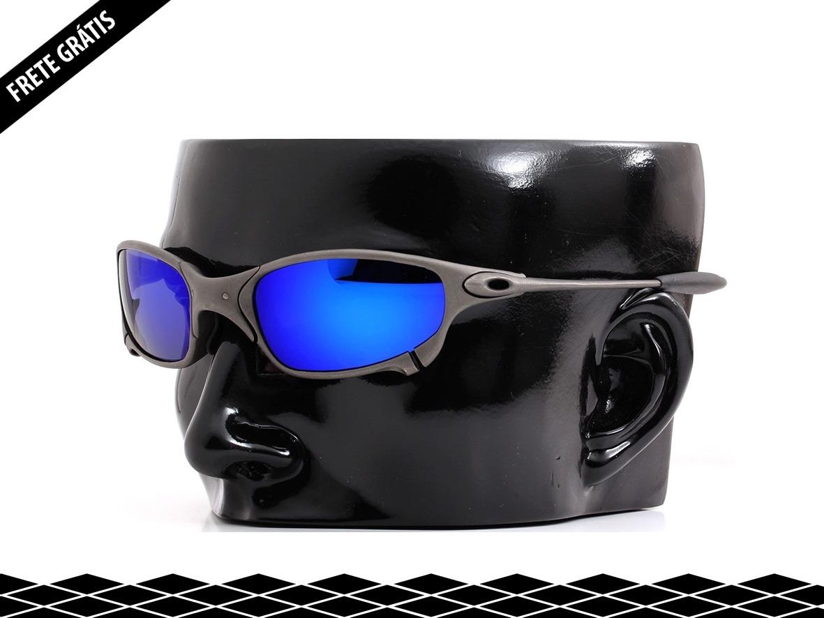 2b30434b0 lentes de reposição p/ oakley juliet - dark blue. Carregando zoom.