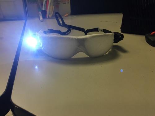lentes de seguridad 3m mica clara  luz led ambos extremos