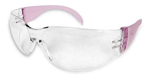 lentes de seguridad armazón rosa dermacare mujer mica clara