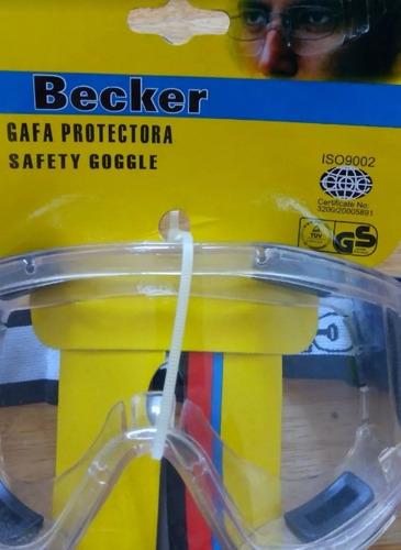 lentes de seguridad marca becker/gafas protectoras.
