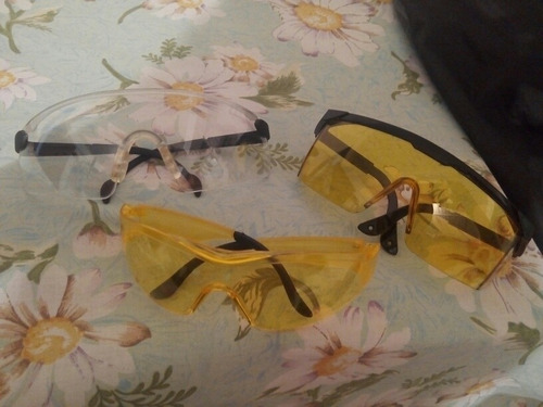 lentes de seguridad transparente y ámbar nuevos