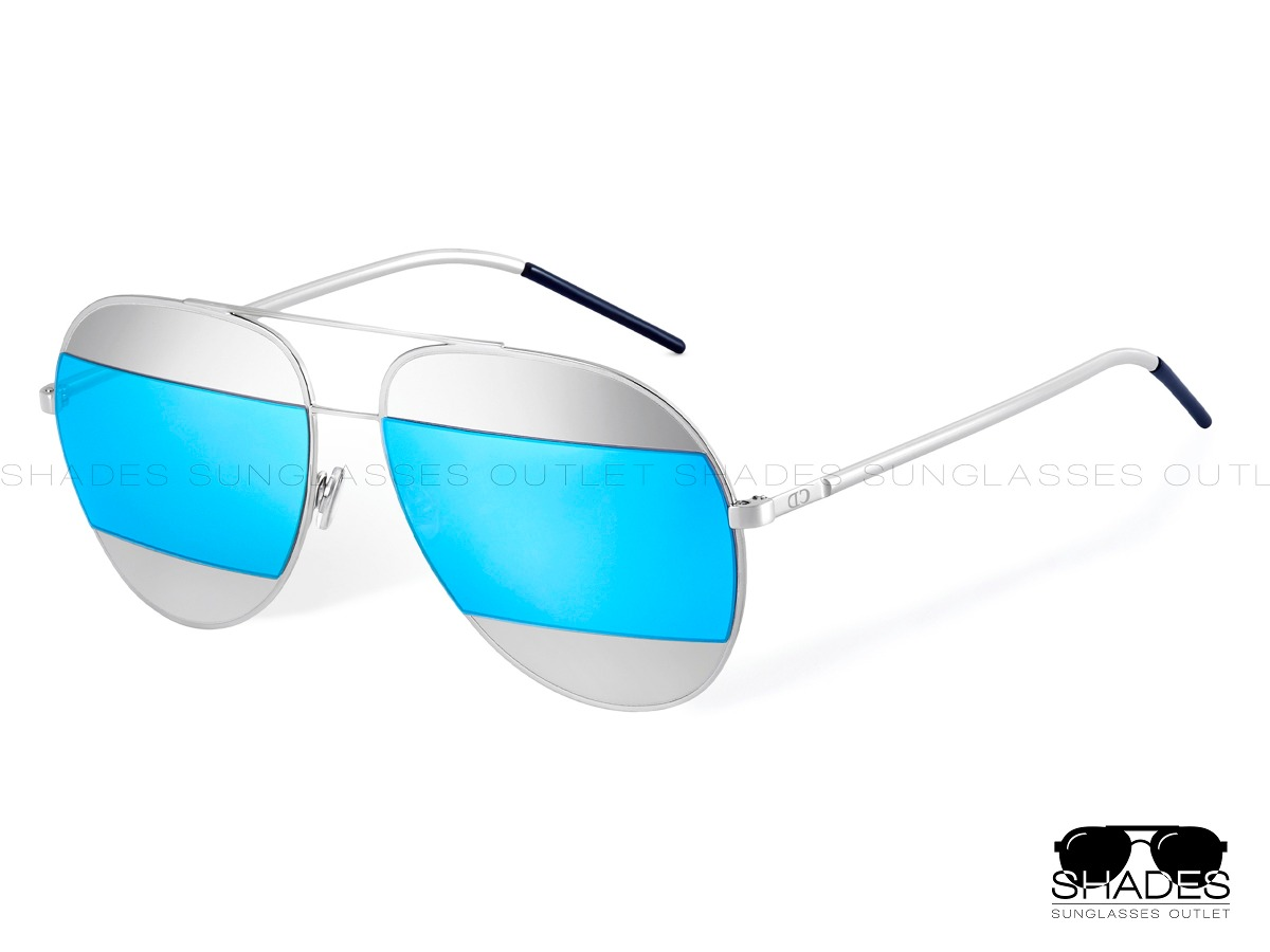 b155afd1e2 Lentes De Sol Azul Plateado Gafas Dior Split Originales - $ 2,199.00 ...