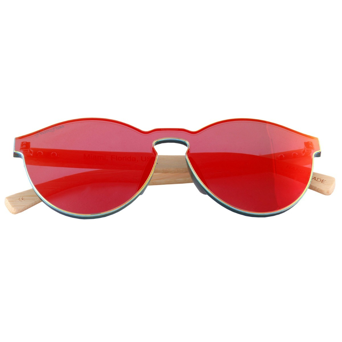 b253dd975a lentes de sol bambu madera rojos palmtree uv400 ecologicos. Cargando zoom.