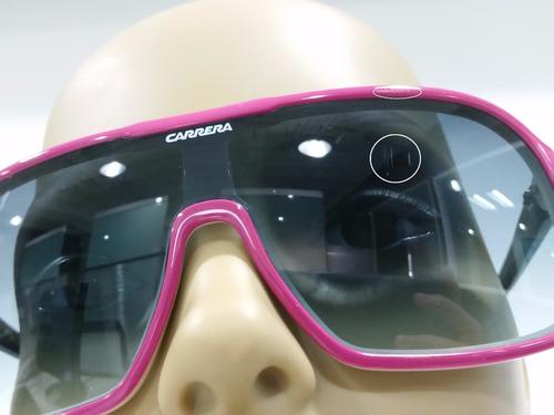 lentes de sol carrera 5530 originales, marco rosado, usados