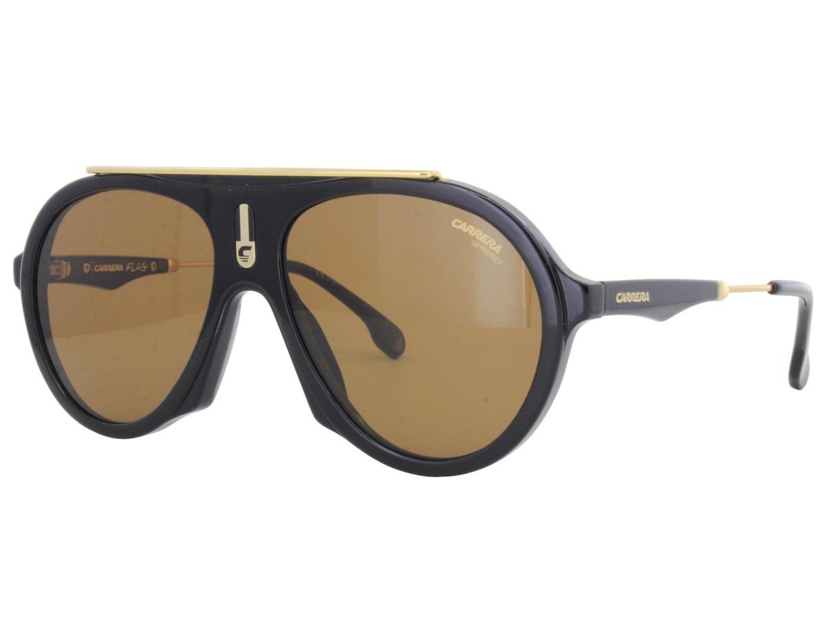 62bd6ee7f5 lentes de sol carrera car flag 80770 negro/oro para hombre. Cargando zoom.