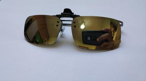 72ebac036e790 lentes de sol clip on p  óculos grau uv400 polarizado prata. Carregando zoom .