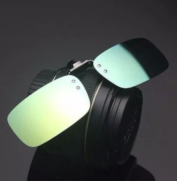 e503266dd54a3 Lentes De Sol Clipon Para Óculos De Grau Uv400 Esmeralda - R  34,90 em  Mercado Livre