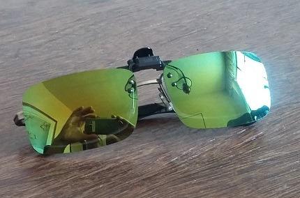 285f0f2b47001 Lentes De Sol Clipon Para Óculos Grau Uv400 Polarizado Verde - R  42 ...