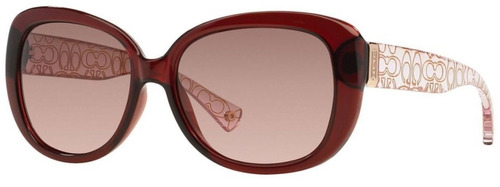 lentes de sol coach hc 8076 l067 laurin burgundy pink crysta