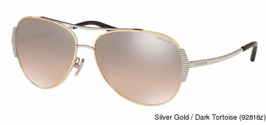 0eee2feaae lentes de sol coach hc7067 92818z para dama plateado/dorado*. Cargando zoom.
