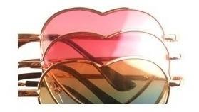 lentes de sol corazón lolita colores hermosos uv400