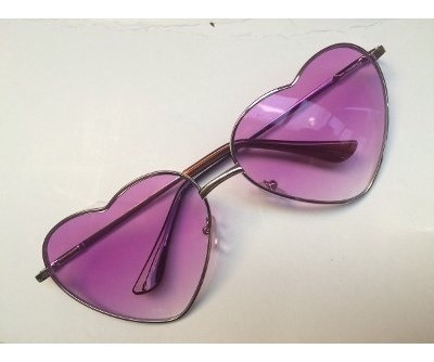 lentes de sol corazón lolita rosa!! unicos en m