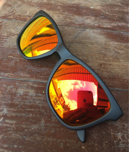 lentes de sol d. franklin roosevelt black matte red