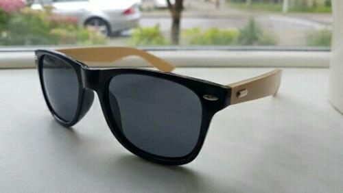 lentes de sol de madera tipo espejo unisex vintage uv400