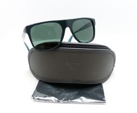 25fa0f24a Lentes De Sol Emporio Armani Ea4014 Black Blue Original 56mm