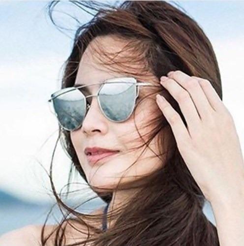 lentes de sol espejados para dama modelo ojo de gato 2017