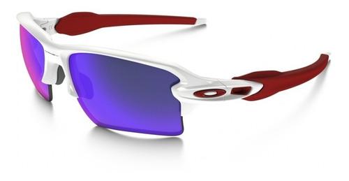 lentes de sol flak 2.0 rojo iridio oakley.