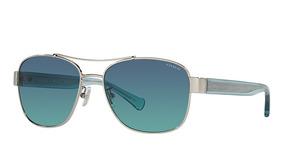f577f80c9d Lentes De Sol Gafas Coach Mujer Plateados Originales Hc7064