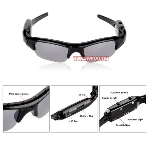 lentes de sol, gafas espia con camara de video hd 2017