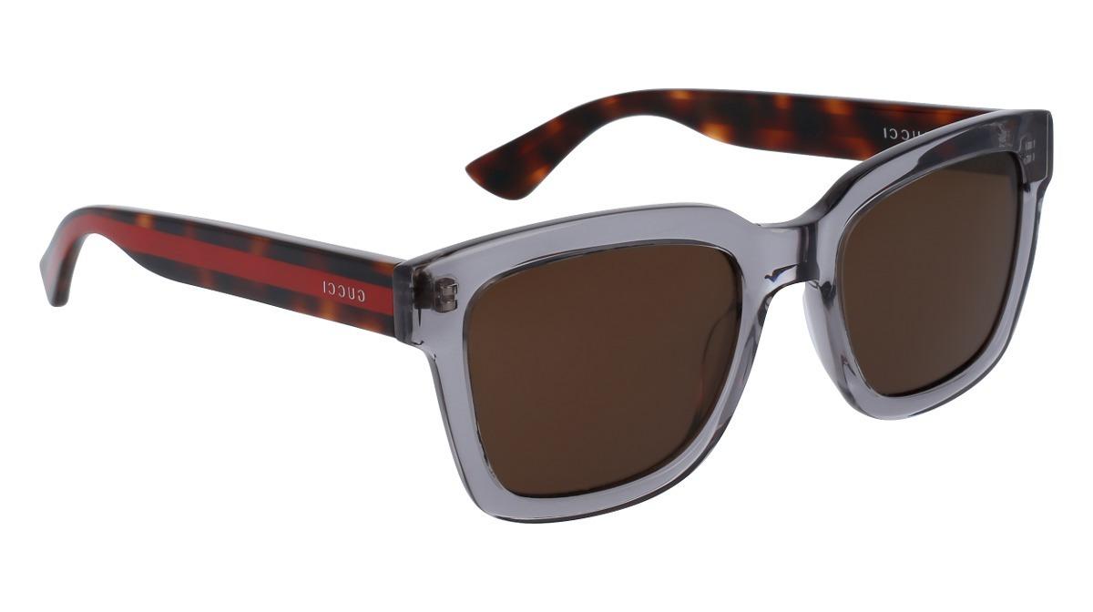 e8f67aad2f lentes de sol gucci gg0001s 005 gris/habana hombre original. Cargando zoom.