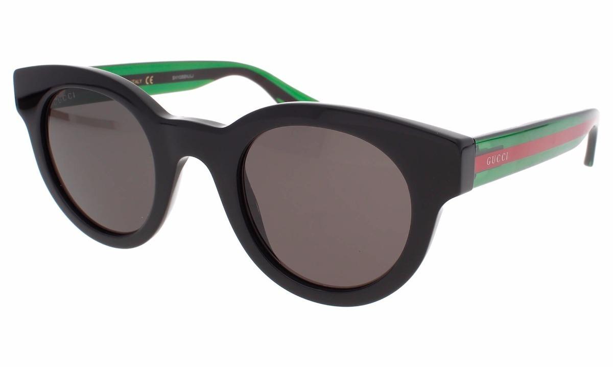 f45b79b50ce Lentes De Sol Gucci Gg0002s 002 Negro verde Hombre Original ...