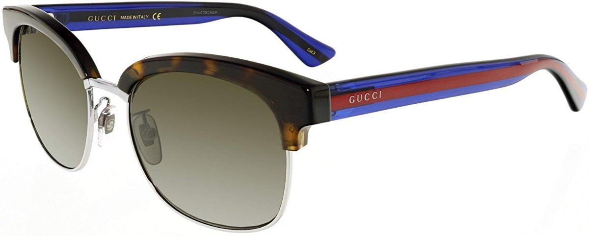 4168e5ef69 Lentes De Sol Gucci Gg0056s 004 Habana Hombre Original - $ 4,539.99 ...