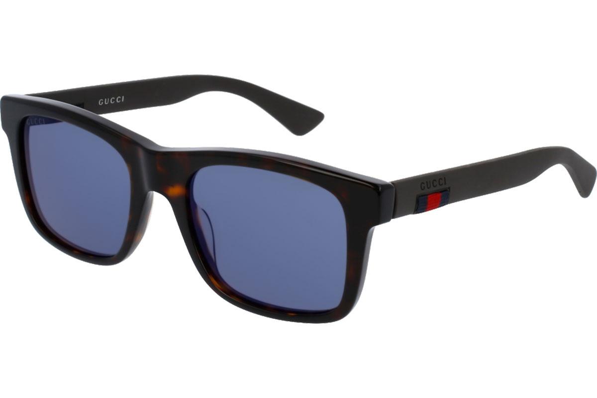 309320d35f lentes de sol gucci para hombre gg0008s 003 azul café/gris. Cargando zoom.