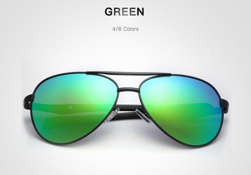 lentes de sol hd crafter aviador varios colores con estuche