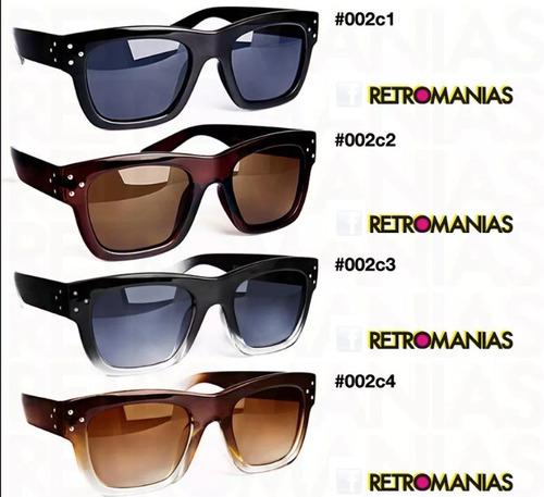 lentes de sol italianos pro filtro uv retro / en 4 colores