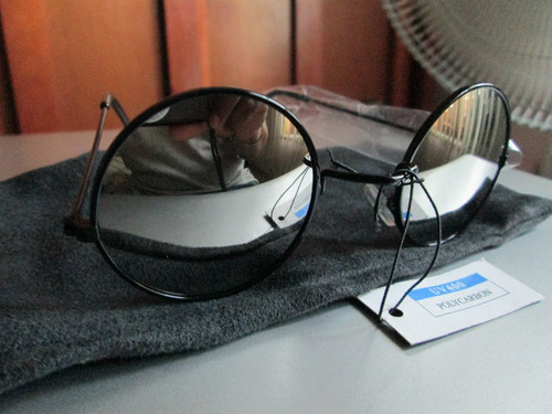 lentes de sol lennon espejo armazon negro envio gratis y msi