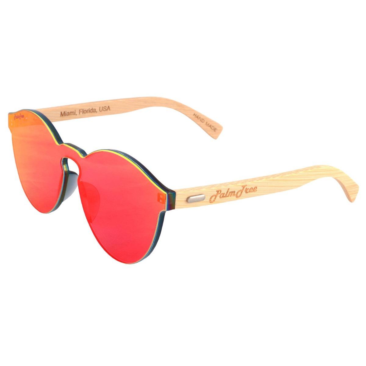 986b9f8475 lentes de sol madera bamboo rojos palmtree uv400 ecologico ...