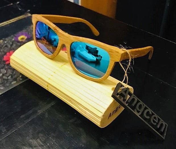 Lentes De Sol Madera Polarizados Uv400 Case Bambu - S  90 aea484c67871