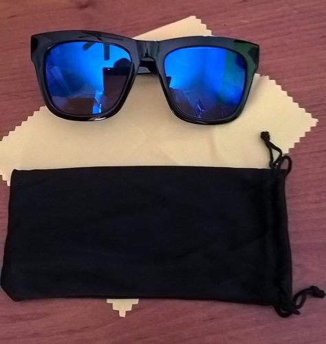 lentes de sol miopia de -1.00 a -4.00 dioptrias espejo azul