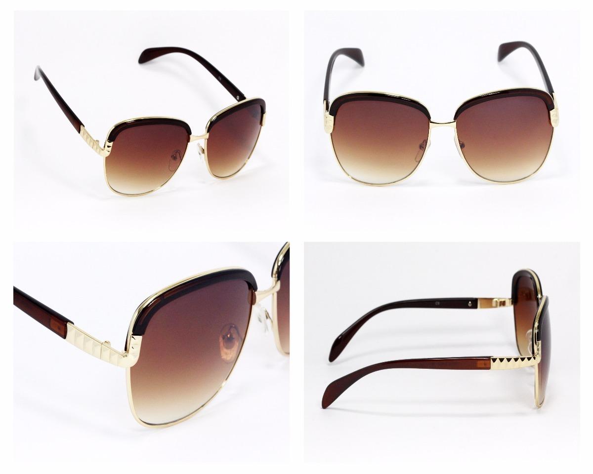 723766c3ef lentes de sol mujer moda cuadrados armazón café dorado ls83. Cargando zoom.