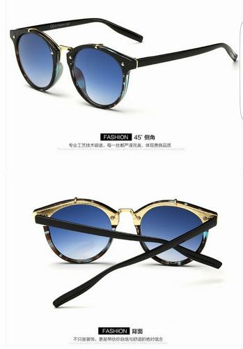 lentes de sol mujer unisex vintage luna degrade espejo uv400