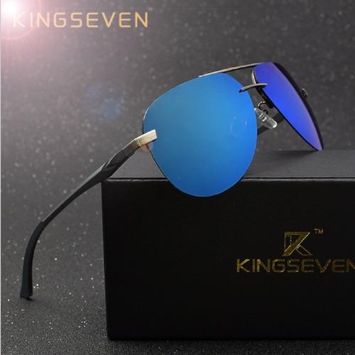 lentes de sol para hombres y mujeres gafas aviador kingseven