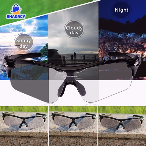 lentes de sol polarizado fotocromatico rockbros ciclismo