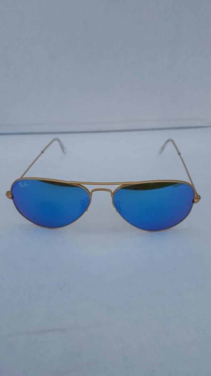 Lentes De Sol Ray Ban Aviador Dorado Azul 100% Originales - S/ 499 ...