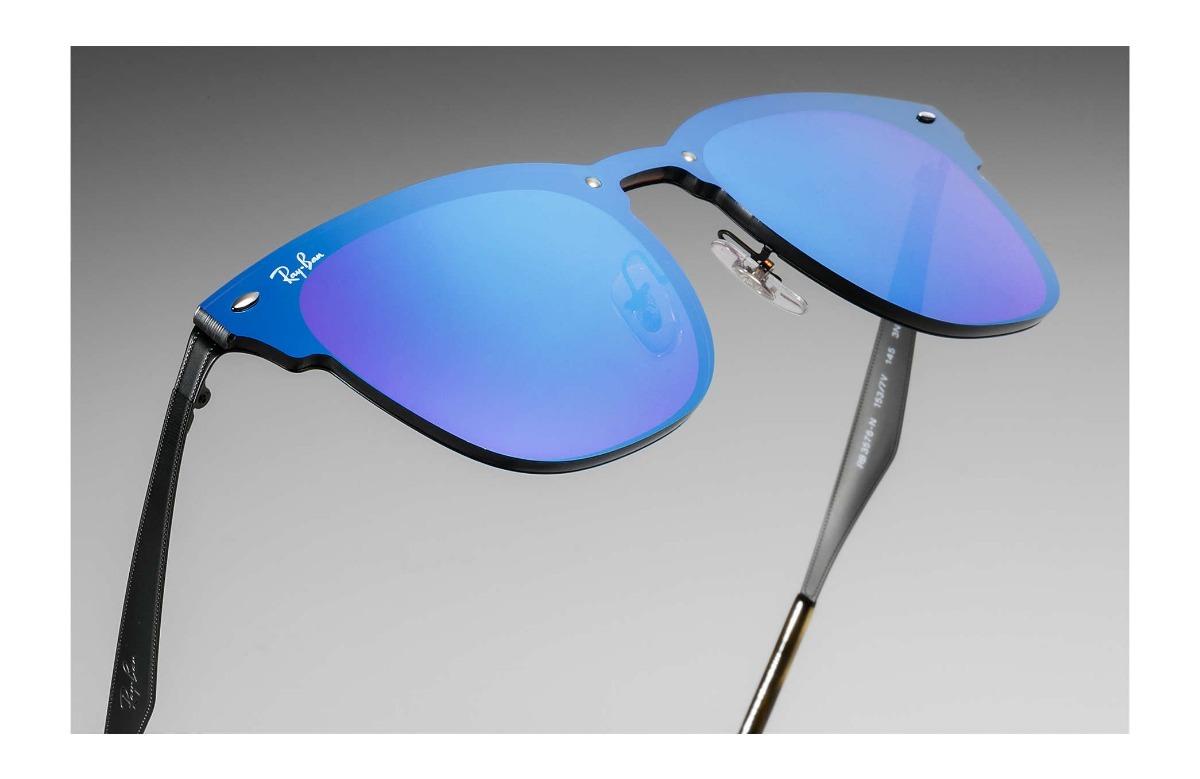c47cb05f3f182 lentes de sol ray ban blaze clubmaster 3576 azul oferta. Cargando zoom.