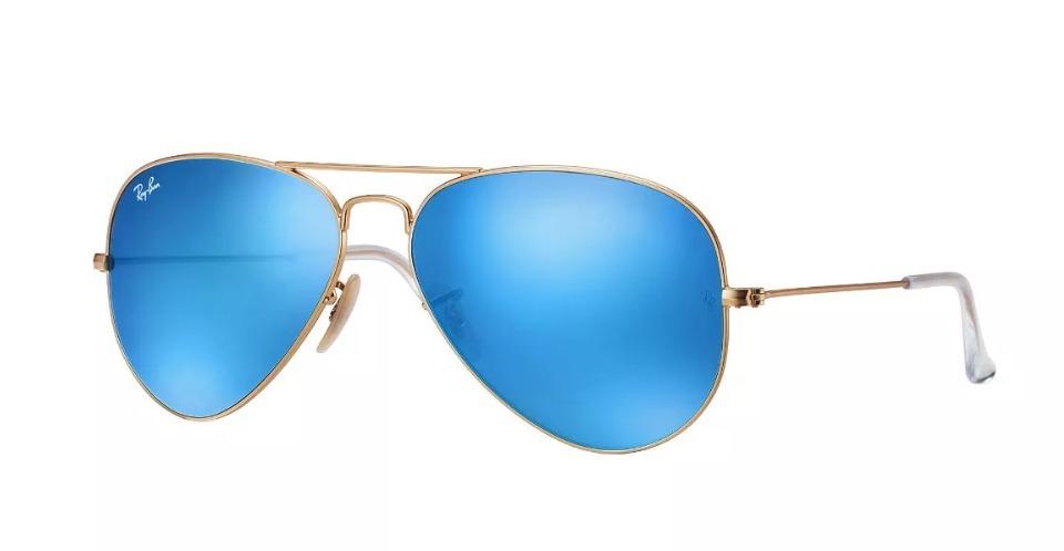 0e9f94a249 lentes de sol ray-ban classic aviator azul espejo original. Cargando zoom.