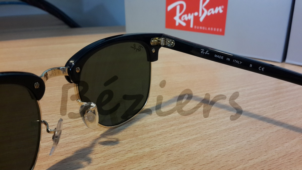 11783e42de Lentes De Sol Ray Ban Clubmaster Negro Original Béziers - $ 1.399,00 ...